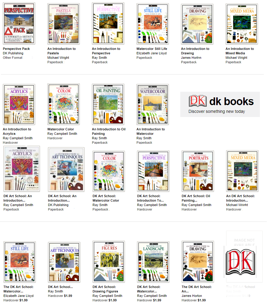 DK art school books